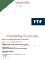 Maths Unit 3 revision