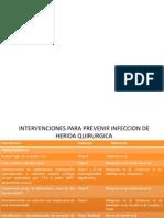 INFECCION DE SITIO QUIRÚRGICO