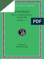 Eusebius Greek English Ecclesiastical History Vol 1 Books 1-5-1926 Loeb