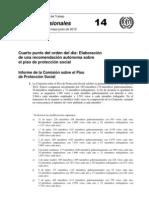 Informe de la Comisión sobre el Piso