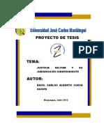 Curso de Actualizacion Para La Formulacion de Proyectos de Tesis de Maestrias y Doctorados Para Los Egresados