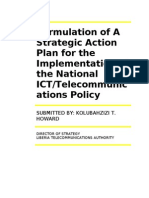 Formulation of Strategic Action Plan for Implementation of National ICT