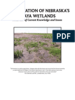 Wetlands Sediment - Sedimentation of Nebraska's Playa Wetlands