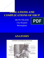 Indications and Complications of Ercp