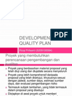 Development and Quality Plan