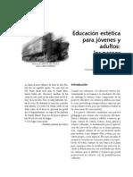 Educación estética para jóvenes y adultos