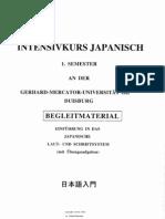 Intensivkurs Japanisch Semester 1 Begleitmaterial