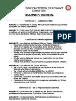 Reglamento Distrital