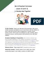 Family Worship Together Toddler Curriculum
