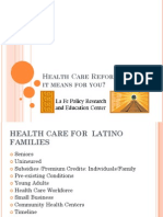Health Care Reform What it Means for You?
