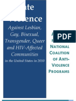 Hate Violence Against Lebsian, Gay, Bisexual, Transgender, Queer and HIV-Affected Communities in the United States