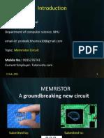 Memristor My Presentation