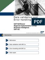 Data Validation Error Handling