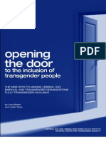 Opening the Door to the Inclusion of Transgender People