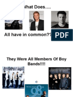 Funny Boy Band Power Point