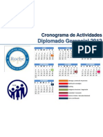 CRONOGRAMA Diplomado Gerencial 2012