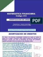Amortización de créditos, cuota nivelada