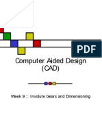 gear drawing in cad and sheet vd easy steps