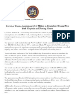 Gov. Cuomo -- HEAL NY Grants in Central New York