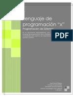 """Programación de Sistemas - Lenguaje de programación """"x"""""""