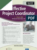 Effective Project Coordinator