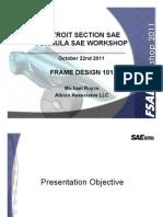 2011 FSAE Wksp Frame Design 101