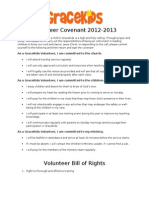 Volunteer Covenant 2012-13