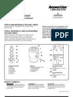Badger 5 garbage disposal user manual