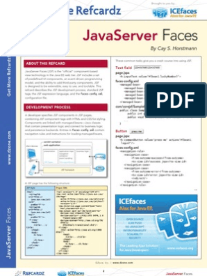 JSF cheat sheet | Java Server Faces | Html Element