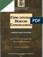 Como Estudiar El Derecho Constitucional. (Dgb)