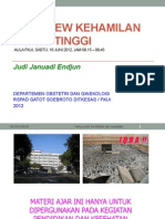 FKUI OBGIN PLD. Overview Kehamilan Risiko Tinggi, JJE 20120616