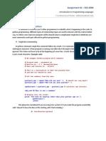 Assignment 1 I2P