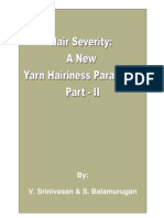 Hair Severity A New Yarn Hairiness Parameter – Part II
