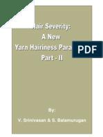 Hair Severity A New Yarn Hairiness Parameter – Part II
