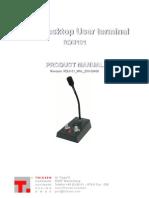 Rdu101 Manual English