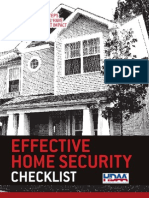 Effective Home Security Checklist