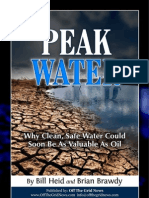 Peak Water Report-Why Clean Safe Water Coud Soon Be as Valuable as Oil