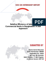 Relative efficiency analysis of selected private commercial banks of Bangladesh