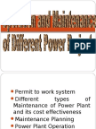 operation and maintenance of power plant