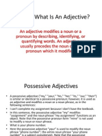 Lessons 5 What is an Adjective