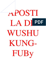 Apostila de Wushu Kung