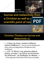 Sorrow and Melancholy From a Christian as Well