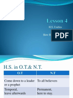 Theology of the Holy Spirit - Lesson 4