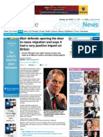 220. Blair Defends Mass Migration Policy