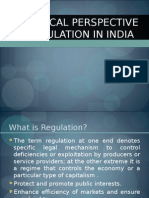 historical perspective of regulation in india1