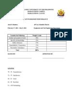 Evaluation Form 1
