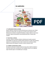 Decálogo de la nutrición