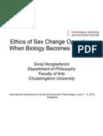 Ethics of Sex Change