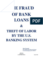 The Fraud of Bank Loans