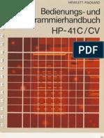 HP41C Handbuch German